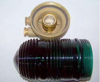 Farol Simple Vidrio Verde Estribor De Bronce Estanco 360 G