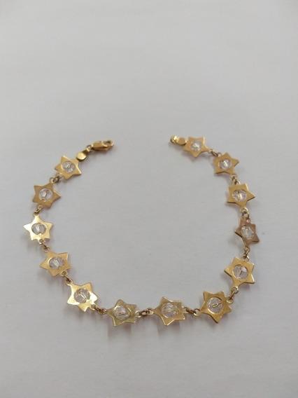 Pulsera De Oro De Estrellas, Para Dama, Envío Gratis
