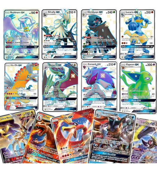 Kit 30 Cartas Pokemon Gx : 25 Gx + 5 Gx Shiny Sem Repetidas