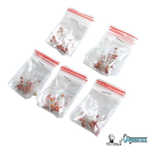 Kit 250 Condensadores Ceramicos 25 Referencias X10 Unidades