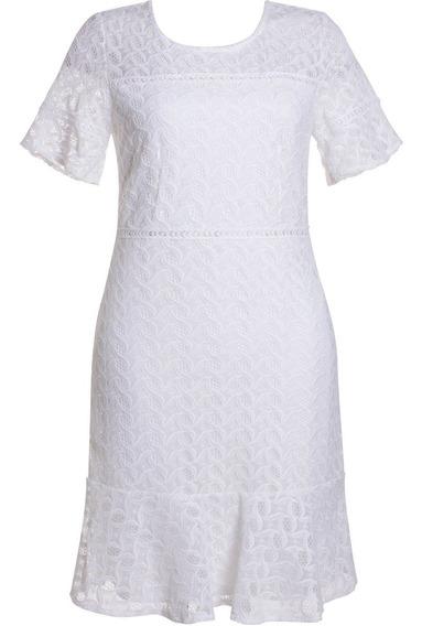 Vestido Renda Evangélico Tubinho Festa Casamento Pp Até O Xg