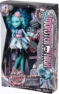 Monster High Sustos, Cámara, Acción! Muñeca Honey Swamp