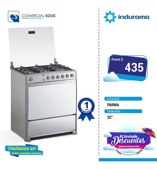 Indurama Cocina A Gas Parma 6 Quemadores 32 Pulgadas