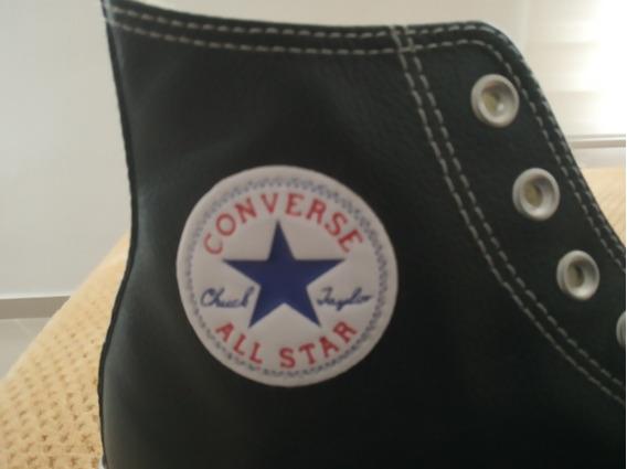 Converse Bota Negros Cuero Originales Talla 9 Envio Ya