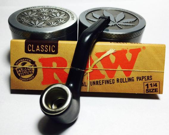 Picador Aluminio 3 Partes Raw Classic + Pipa Ideal Amsterdam