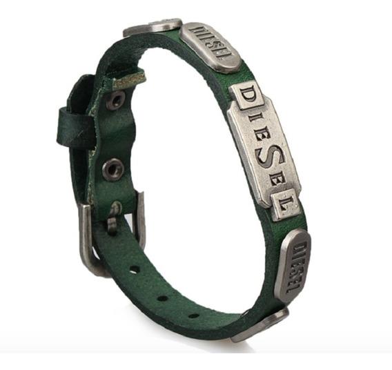 Bracelete Pulseira Masculina Feminina Couro Diesel