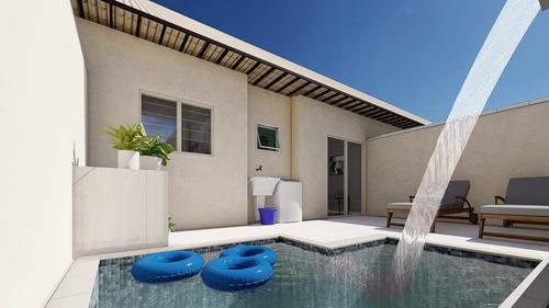 Imagem 1 de 11 de Casa Com Piscina Individual, Condomínio Itanhaém 189 Mil