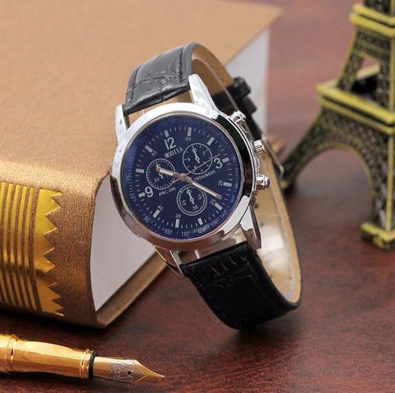 Relógio Luxo Masculino Gaiety Pulso Social Pulseira Couro