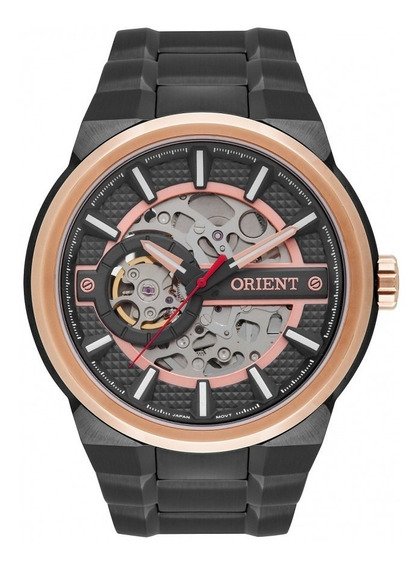 Relógio Orient Grafite E Rosé Masculino Nh7yr001g1gx