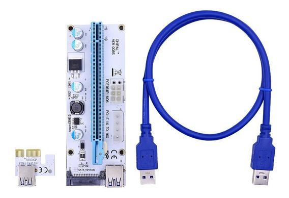 Riser Pci Express Usb 3.0 Pcie X1 X16 V008s Molex 4pin Sata
