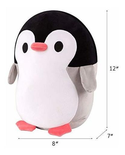 Felpa Pingüino, Pingüino Squeezable Peluche Suave, Rellen