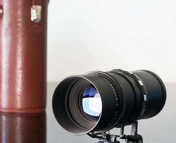 Lente Meyer Primotar 135mm-15lamin. Exa + Adapt. Novo Sony E