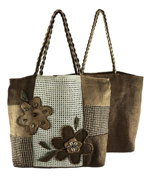 Bolsa Feminina Grande Tipo Sacola Comercial Textil Hy0012