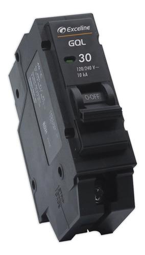 Breaker Breker Interruptor Termomagnetico 30a 1p Exceline /