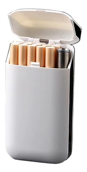 Cigarrera Porta Cigarrillos Encendedor Usb Electronico Metal