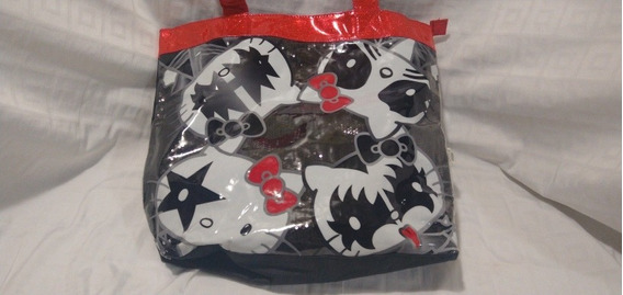 Bolsa Hello Kitty Kiss Negra Lentejuela Rock