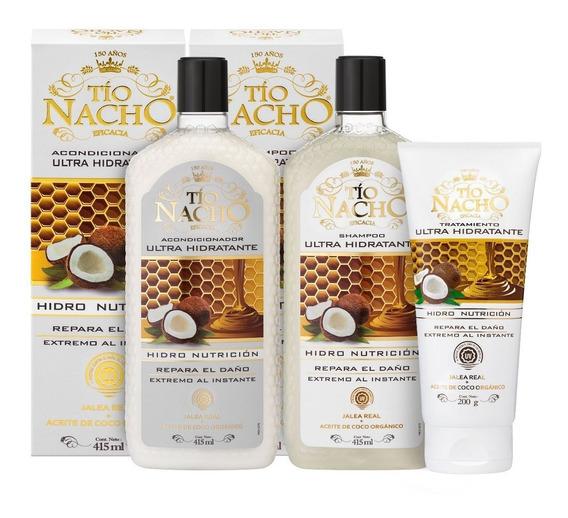 Kit Tío Nacho Ultra Hidratante Shampoo + Acond + Tratamiento