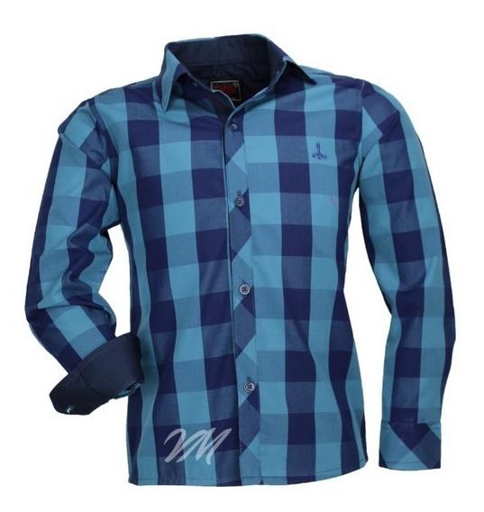 Camisa Infantil Alfa 187 Meninosem Bolso Tecido Xadrez 2 Cor