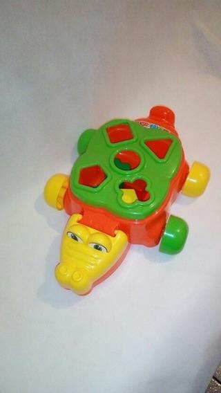 Jacare Junior Infantil Com Pecinhas Encaixar Brinquedo Bebe