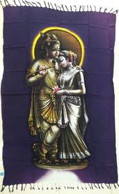 Canga Indiana Deuses Hindus Parvati E Shiva Elefante Praia