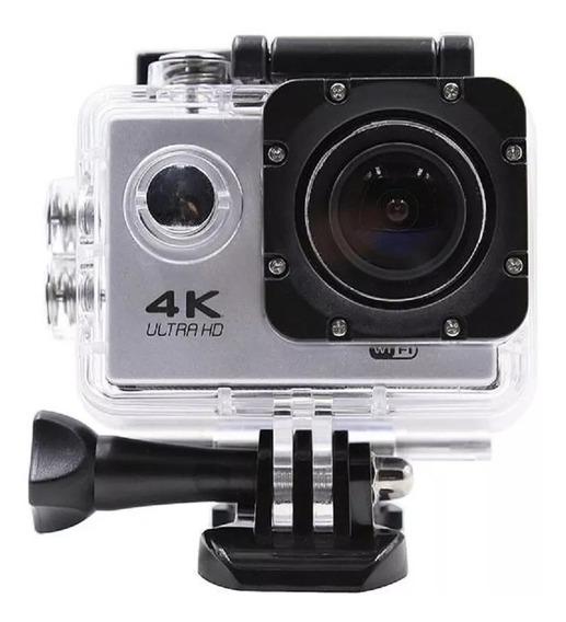 Camera Para Capacete Bicicleta Moto 4k Sports Com Wifi