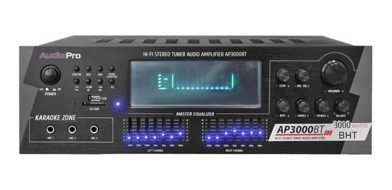 Amplificador Bluetooth Ap3000bt / Usb Audiopro 4 Canales