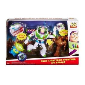 Boneco Buzz Lightyear Deluxe Toy Story Com Som 19 Cm Mattel