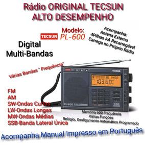 Rádio Original Tecsun Pl-600 Multi-bandas Fm,am,oc,ol,om,ss