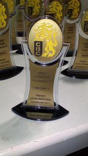 Trofeos Reconocimientos En Acrilico Placas Premios A Color