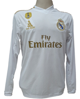 Camisa Real Madrid Manga Comprida Longa