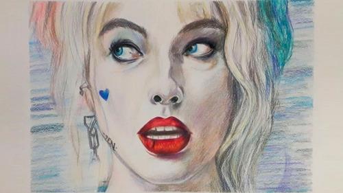 Dibujo Retrato A Lápices De Colores Tamaño A4 (personal)