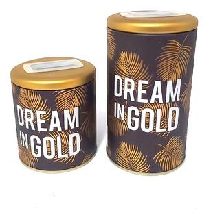 Set Latas Azucarera Y Yerbera Dream In Gold