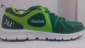 Tênis Verde Voluntários Olimpíadas Rio 2016 Tam.36 Novo