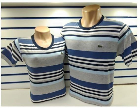 Kit Camiseta Casal Lacoste A Pronta Entrega