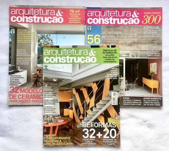 Lote 3 Revistas Arquitetura E Construção E Frete Grátis