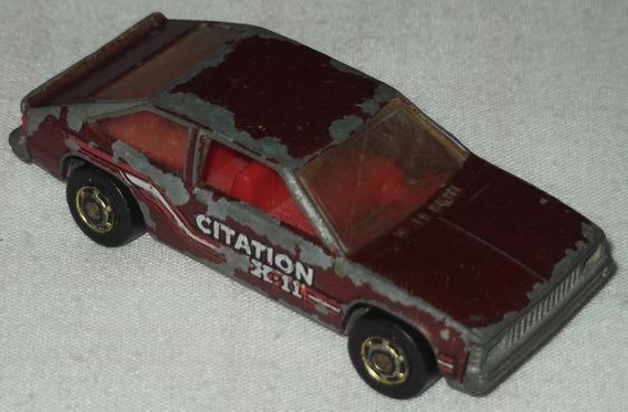 Mini Chevy Citation X-11 Hot Wheels Mattel 1980 Escala 1:64