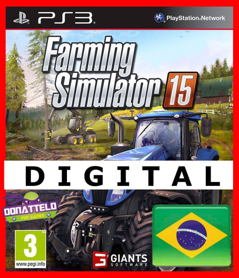 Farming Simulator 15 Ps3 Digital Psn Pt Br Simulador Fazenda