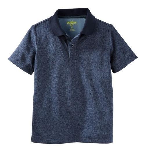 Camiseta Azul Tipo Polo Oshkosh Carter