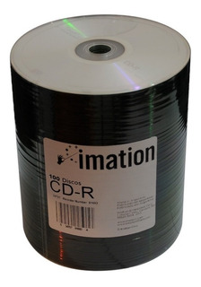 Cd Virgen Imation Cdr 52x/700mb/80 Min X 100 Unidades