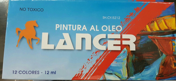 Pintura Al Oleo Lancer 12 Colores 12ml Loschill