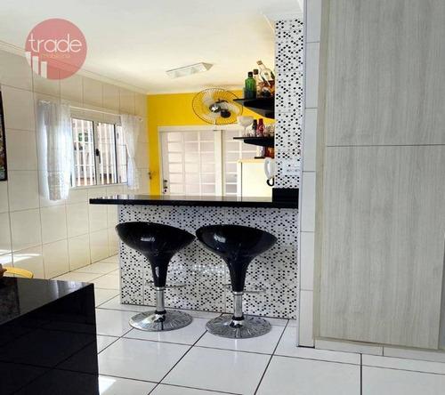 Casa Com 3 Dormitórios À Venda, 160 M² Por R$ 330.000,00 - Jardim José Sampaio Júnior - Ribeirão Preto/sp - Ca4071