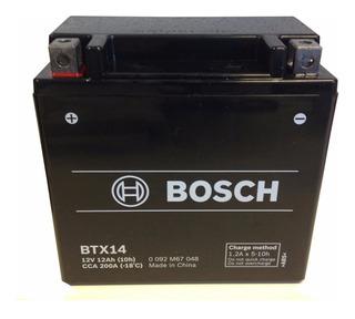 Bateria Bosch Btx14 Original Importada (incluye Mercado Envio) Ytx14bs Bmw Kawasaki Cuatriciclos Honda Yamaha Blindada