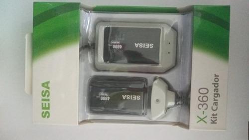 Cargador Base +2 Baterias P/joystick Xbox 360+cable Xxx