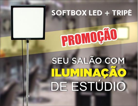 Painel Led Soft Bos Salão De Beleza + Tripé + Auto Maquiagem