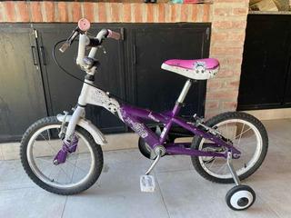 Bicicleta X-terra. Violeta/blanco. R16. Excelente Estado!