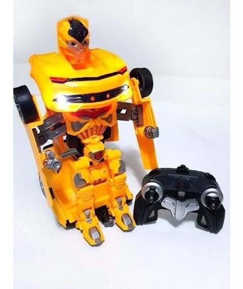 Carrinho Carro Vira Robô Transformer Controle Remoto Bateria