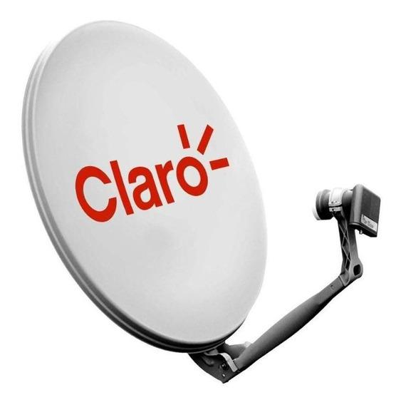 Kit Antena Parabólica Banda Ku 60cm Com Lnbf Simples + Cabo