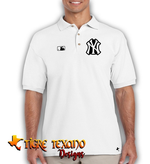 Playera Polo Yankees Nueva York M-02 By Tigre Texano Designs
