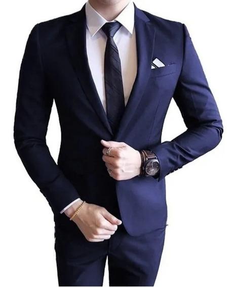 Terno Slim Masculino Italiano Chumbo Oxford + Qualidade