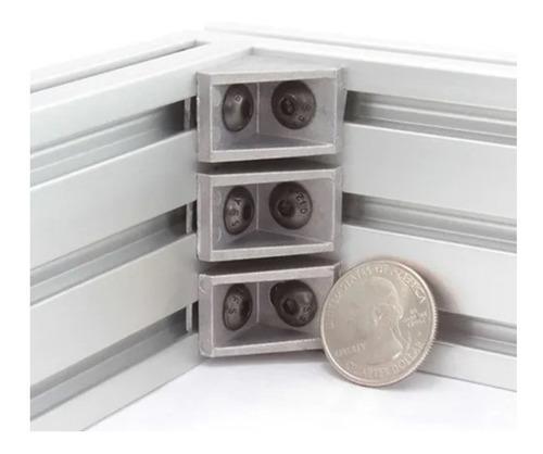 Imagen 1 de 2 de Escuadra Aluminio Para Perfil 2020 Cnc Impresora 3d